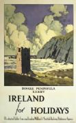 Dingle Peninsula, County Kerry, Irish Art Travel Poster by Paul Henry